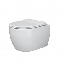 Унитаз подвесной Ceramica Nova Play CN3001 с микролифтом, безободковый