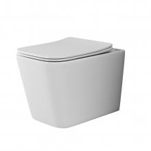Унитаз подвесной Ceramica Nova Cubic CN1806 с микролифтом, безободковый