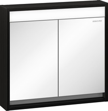 Зеркало-шкаф Edelform Constante 80 с подсветкой венге с белым
