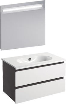 Мебель для ванной Inova Sfera 80 дуб дымчатый