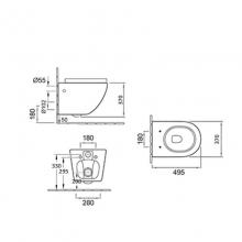 Унитаз подвесной безободковый ESBANO GARDENA белый с сиденьем Микролифт