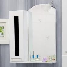 Зеркало-шкаф Sanflor Валлетта 60 черное стекло L