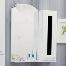 Зеркало-шкаф Sanflor Валлетта 60 черное стекло R