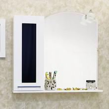 Зеркало-шкаф Sanflor Валлетта 80 черное стекло L