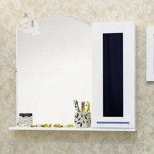 Зеркало-шкаф Sanflor Валлетта 80 черное стекло R