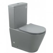 Унитаз напольный безободковый ESBANO ALAGON-С матовый серый с сиденьем Микролифт