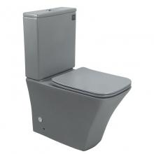 Унитаз напольный безободковый ESBANO CRISAN матовый серый  с сиденьем Микролифт