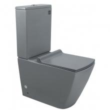 Унитаз напольный безободковый ESBANO DUERO-С матовый серый с сиденьем Микролифт