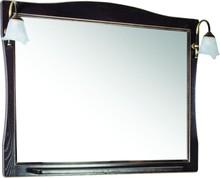 Зеркало ASB-Woodline Модена 105 орех, патина золото