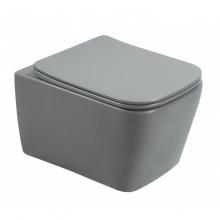 Унитаз подвесной безободковый ESBANO TIRON-С матовый серый с сиденьем Микролифт