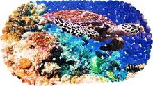 Коврик Bella 69х39 овал черепаха