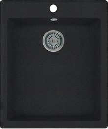 Мойка кухонная Whinstone Аркус 420 черный металлик