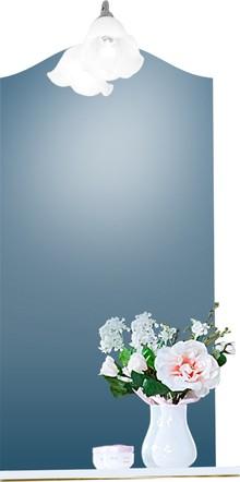 Зеркало Бриклаер Лючия 45 белый глянец, золото