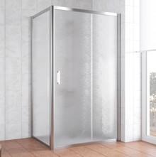 Душевой уголок Vegas Glass ZP+ZPV 100*70 08 02 профиль глянцевый хром, стекло шиншилла