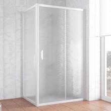 Душевой уголок Vegas Glass ZP+ZPV 100*70 01 02 профиль белый, стекло шиншилла