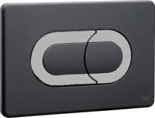 Кнопка смыва OLI Salina 640099 черный/хром матовый