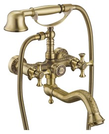 Смеситель Zorg Antic A 7000W-BR для ванны с душем