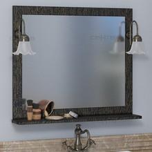 Зеркало СанТа Классик 80 черное золото