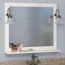 Зеркало СанТа Классик 80 белое золото