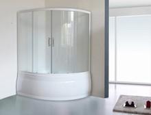 Шторка на ванну Royal Bath Alpine RB 160ALP-T 160 см, прозрачное стекло
