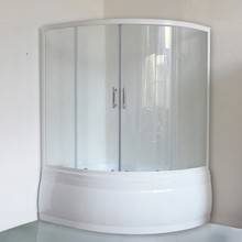 Шторка на ванну Royal Bath Alpine RB 140ALP-С 140 см, стекло шиншилла