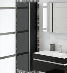 Шкаф-пенал Ingenium Axioma 35 черный глянец L