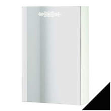 Зеркало-шкаф Ingenium Accord 50 черный глянец L