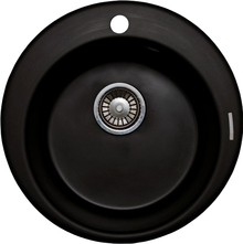 Мойка кухонная Lava R1 чёрный металлик