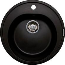Мойка кухонная Lava R2 чёрный металлик