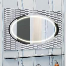 Зеркало Sanflor Белла 100 белое, патина серебро