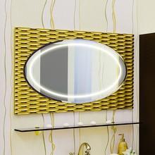 Зеркало Sanflor Белла 100 шоколадный, патина золото