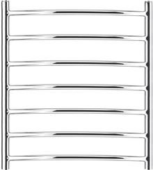 Полотенцесушитель водяной Garcia Родос 7П 50х70 никель хром