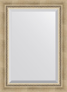 Зеркало Evoform Exclusive BY 1122 53x73 см состаренное серебро с плетением
