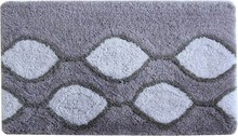 Коврик Iddis Curved Lines Grey 80x50