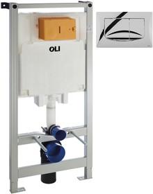 Система инсталляции для унитазов OLI Oli 80 с кнопкой смыва River 300572mRi00