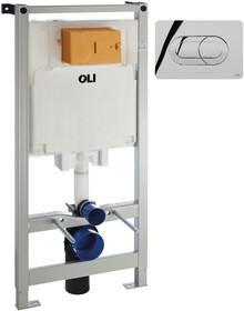 Система инсталляции для унитазов OLI Oli 80 300573 с кнопкой смыва Salina