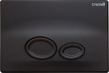 Кнопка смыва Creavit Drop GP2002.01 черный матовый