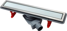 Душевой лоток Pestan Confluo Premium Line 450 белое стекло/сталь