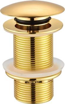 Донный клапан для раковины Creavit SF030G без перелива, золото