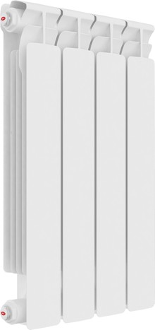 Радиатор биметаллический Rifar Alp Ventil 500 4 секции, нижнее подключение правое