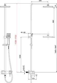 Душевая стойка Lemark Tropic LM7004C хром с изливом