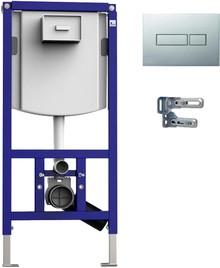 Система инсталляции для унитазов Sanit INEO Plus 90.721.00..S013 4 в 1 с кнопкой смыва