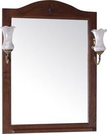 Зеркало ASB-Woodline Салерно 65 со светильниками, орех антикварный