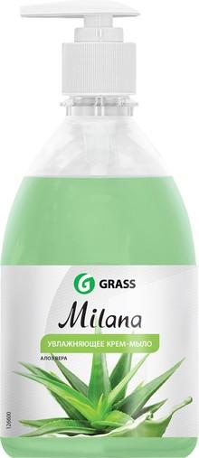 Жидкое мыло Grass Milana крем-мыло с дозатором, алое вера, 500 мл