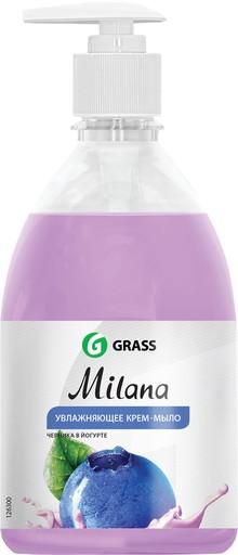 Жидкое мыло Grass Milana крем-мыло с дозатором, черника в йогурте, 500 мл