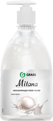 Жидкое мыло Grass Milana крем-мыло с дозатором, жемчужное, 500 мл