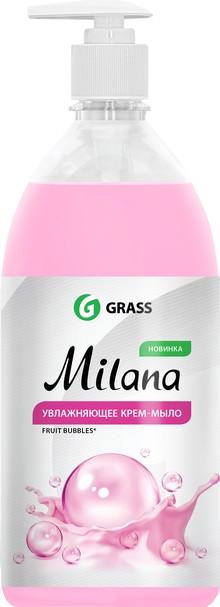 Жидкое мыло Grass Milana крем-мыло с дозатором, fruit bubbles, 1 л