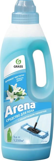 Средство для мытья пола Grass Arena с полирующим эффектом, водная лилия, 1 л