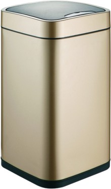 Мусорное ведро Weltwasser WW Rone CG 12L шампань золото