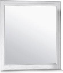 Зеркало ASB-Woodline Берта 85 белое, патина серебро